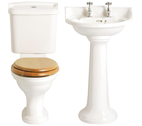Heritage Dorchester Traditional Cloakroom Suite - 2