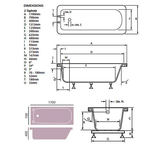 Technical drawing QS-V76034 / BDW00SS