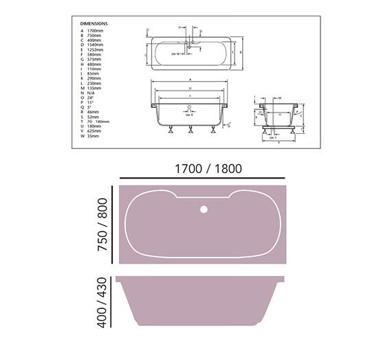 Technical drawing QS-V76035 / BWW00SS