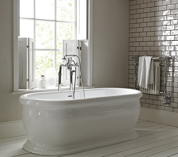 Heritage Derrymore 1745 x 790mm Double Ended Roll Top Bath
