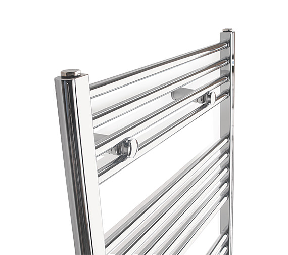 Alternate image of Tivolis Straight Towel Warmer In Chrome Finish - 400 x 1800mm