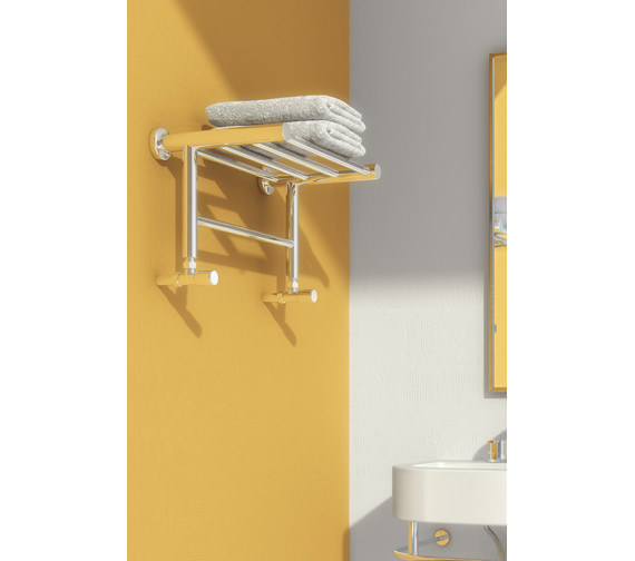 Alternate image of Reina Troisi Stainless Steel Designer Radiator 532mm Wide x 294mm High