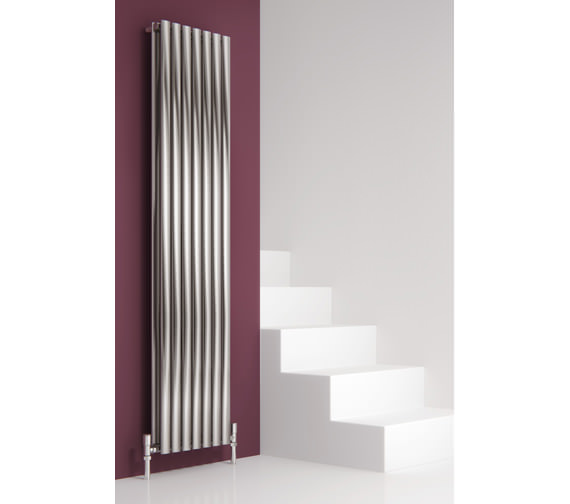 Alternate image of Reina Nerox Double Brushed Vertical Radiator 295 x 1800-RNS-NRX1805SD