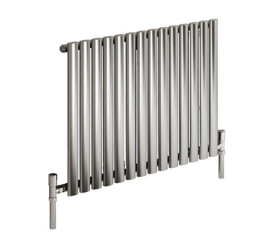 Reina Nerox Single Brushed Horizontal Radiator 413mm Wide x 600mm High