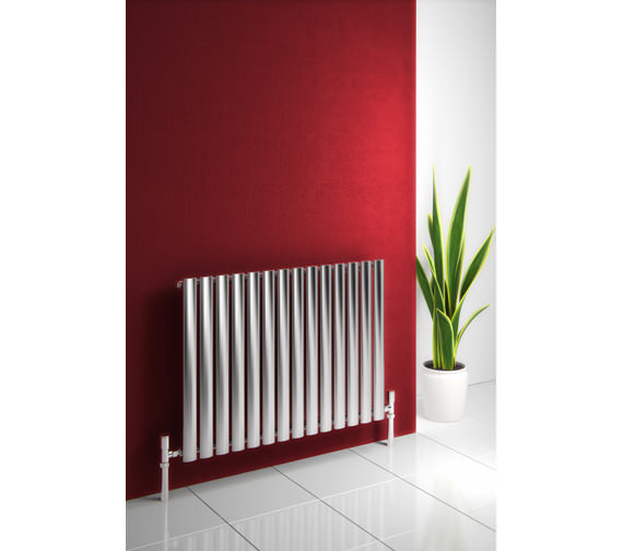 Alternate image of Reina Nerox Single Brushed Horizontal Radiator 413mm Wide x 600mm High