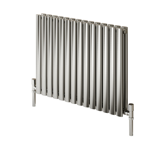 Reina Nerox Double Brushed Horizontal Radiator 590mm Wide x 600mm High