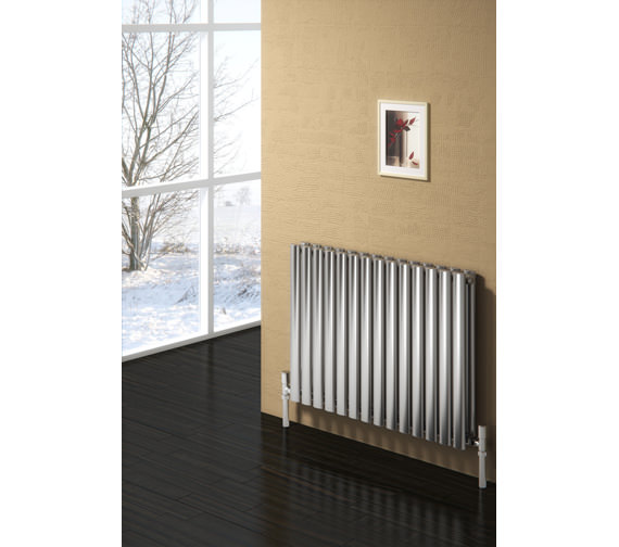 Alternate image of Reina Nerox Double Brushed Horizontal Radiator 590mm Wide x 600mm High