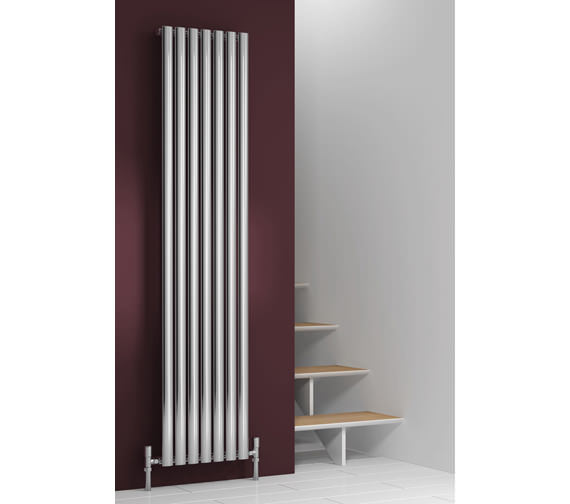 Alternate image of Reina Nerox Single Polished Vertical Radiator 413 x 1800-RNS-NRX1807P