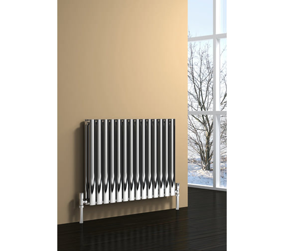 Alternate image of Reina Nerox Double Polished Horizontal Radiator 590mm Wide x 600mm High