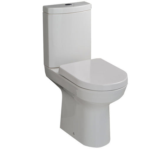 RAK Highline Close Coupled WC With Soft Close Toilet Seat 650mm