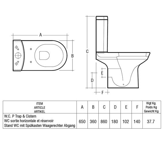 Technical drawing QS-V76302 / HIGPAK