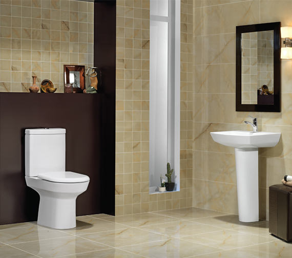 Additional image of RAK Highline Close Coupled WC With Soft Close Toilet Seat 650mm