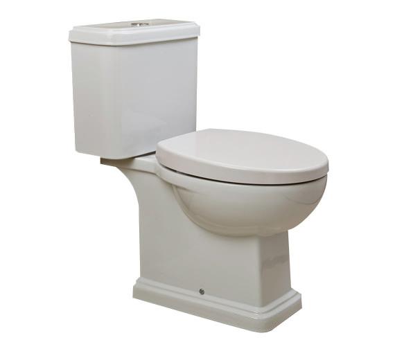 rak decor close coupled wc with soft close toilet seat 660mm