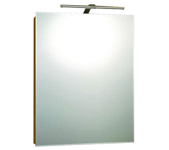 RAK Solitaire Luxury Aluminium LED 550 x 700 Single Door Mirror Cabinet