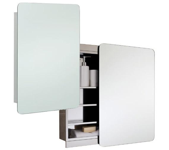 RAK Slide Stainless Steel 500 x 700mm Slider Door Mirror Cabinet