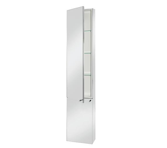 Stainless Steel Tall Kitchen Cabinet: Croydex Nile Stainless Steel Tall Cabinet