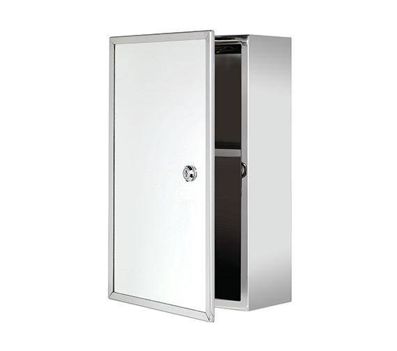 Croydex Trent Stainless Steel Lockable Medicine Cabinet - WC846005