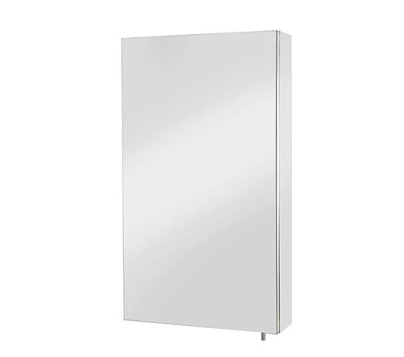Croydex Colorado Stainless Steel Single Door Large Mirror Cabinet