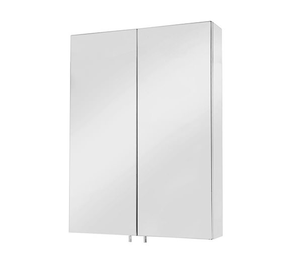 Croydex Anton Stainless Steel Double Door Standard Mirror Cabinet
