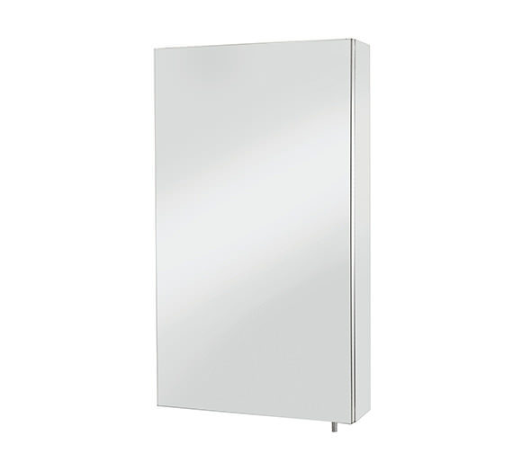 Croydex Anton Stainless Steel Single Door Standard Mirror Cabinet