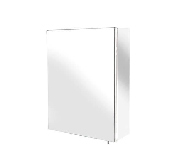 Croydex Avon Stainless Steel Single Door Small Mirror Cabinet