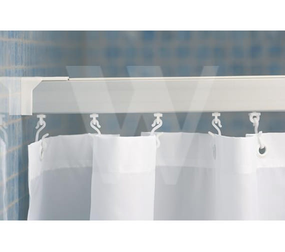 Croydex Made-To-Measure Profile 400 Straight Curtain Rail Silver