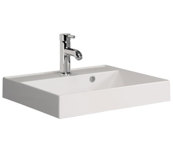 Bauhaus Design 500mm Wide Cast Mineral Marble Vanity Basin