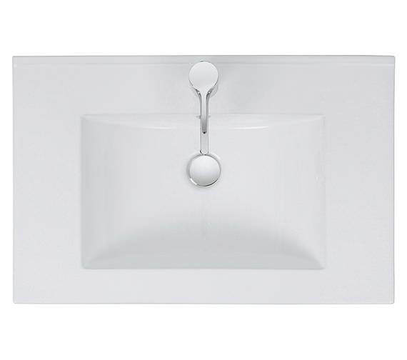 Alternate image of Bauhaus Design 1 Tap Hole Inset Ceramic Basin With Overflow