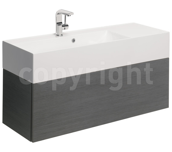 Bauhaus Elite 1000mm Single Drawer Steel Wall Hung Basin Unit