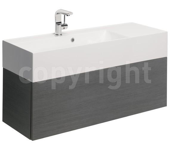 Bauhaus Elite 1000mm Single Drawer Steel Wall Hung Basin Unit