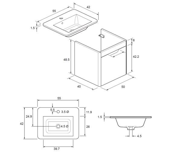 Technical drawing QS-V40311 / SO5500DWG