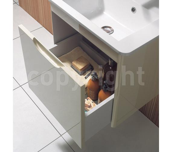 Additional image of Bauhaus Solo 500mm Single Drawer Wall Hung Basin Unit White Gloss