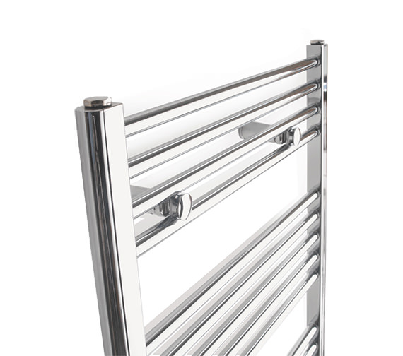 Alternate image of Tivolis Straight Towel Warmer In Chrome Finish - 450 x 1800mm