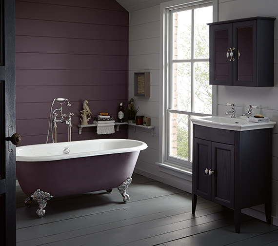 Additional image of Heritage Baby Buckingham Freestanding Cast Iron Roll Top Bath With Feet