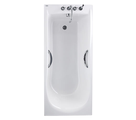 Twyford Envy 1700 x 750mm Single Ended Bath With Grips - NV8520WH