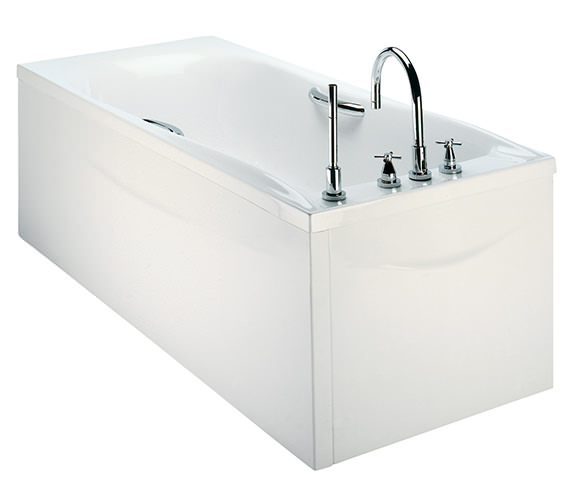 Additional image of Twyford Envy 1700 x 750mm Single Ended Bath With Grips - NV8520WH