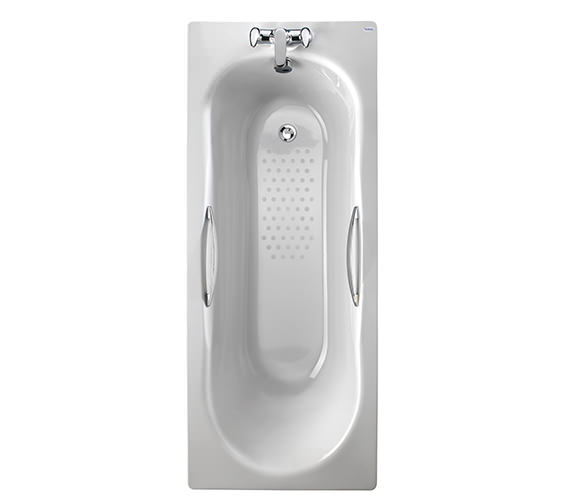 Twyford Celtic Slip Resistant Steel Bath With Grips - 1700 x 700mm - 140 Litre