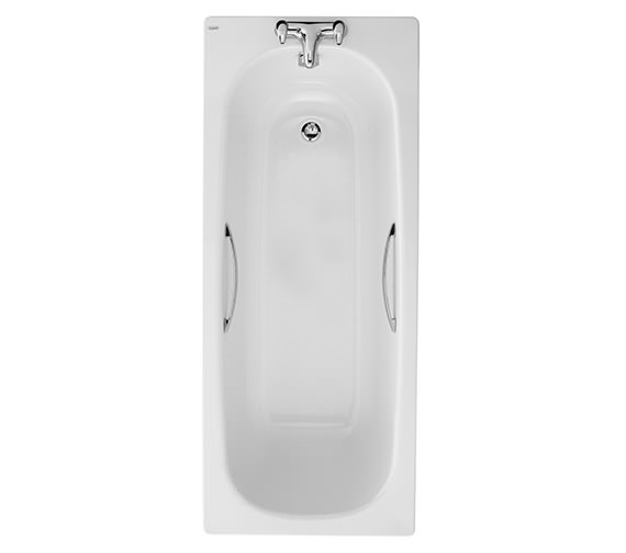 Twyford Celtic Plain Steel Bath With Grips And Legs 1500 x 700mm