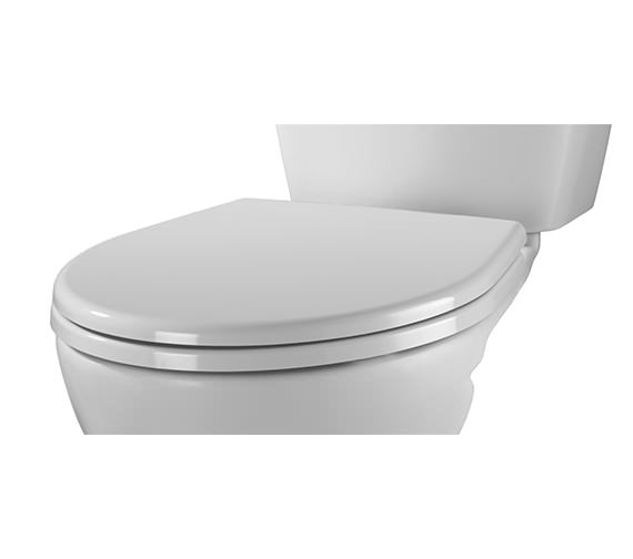 Alternate image of Twyford Alcona White Toilet Seat And Cover