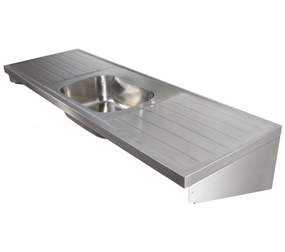 Twyford SS 1800 X 600mm Single Centre Bowl Sink And Double Drainer