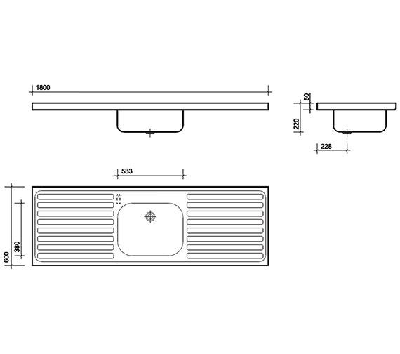 Technical drawing QS-V76617 / PS4152SS