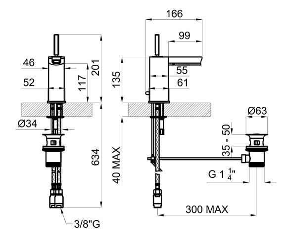 Technical drawing QS-V76650 / 100038967