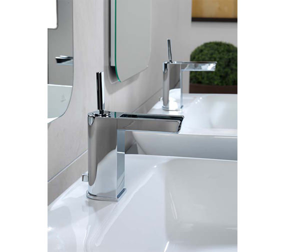 Additional image of Porcelanosa Noken Nora Single Lever Basin Mixer Tap And Waste Set