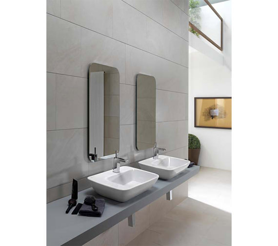 Alternate image of Porcelanosa Noken Nora Single Lever Basin Mixer Tap With Light And Waste