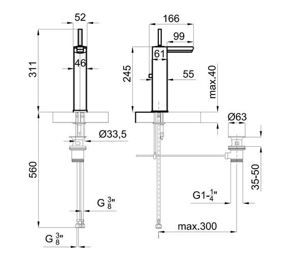 Technical drawing QS-V76651 / 100038968