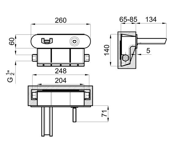 Technical drawing QS-V76652 / 100038969