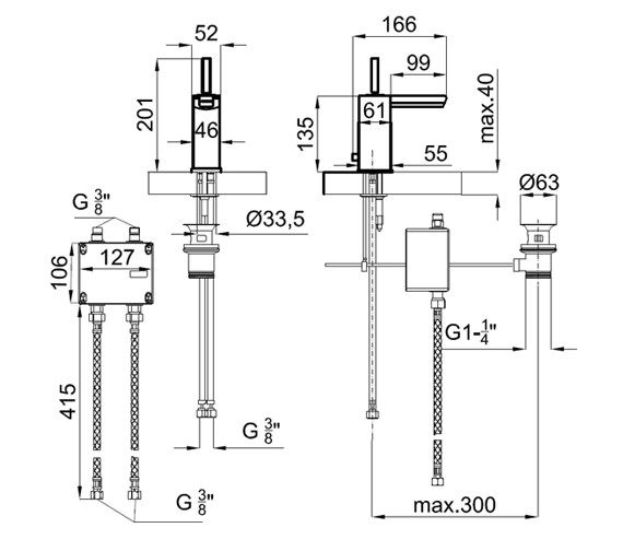 Technical drawing QS-V76653 / 100038970