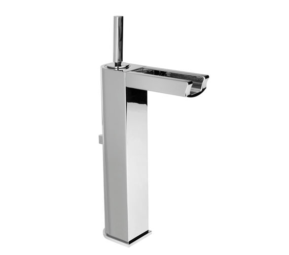 Porcelanosa Noken Nora High Spout Single Lever Basin Mixer Tap And Waste