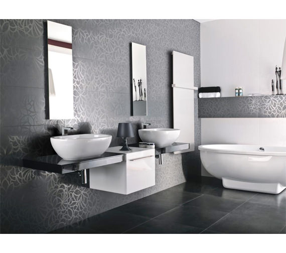 Additional image of Porcelanosa Noken Nora High Spout Single Lever Basin Mixer Tap And Waste