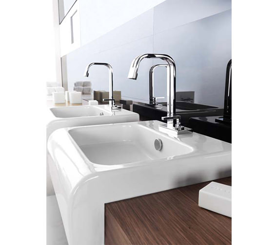 Alternate image of Porcelanosa Noken Neox Single Lever Deck Mounted Basin Mixer Tap